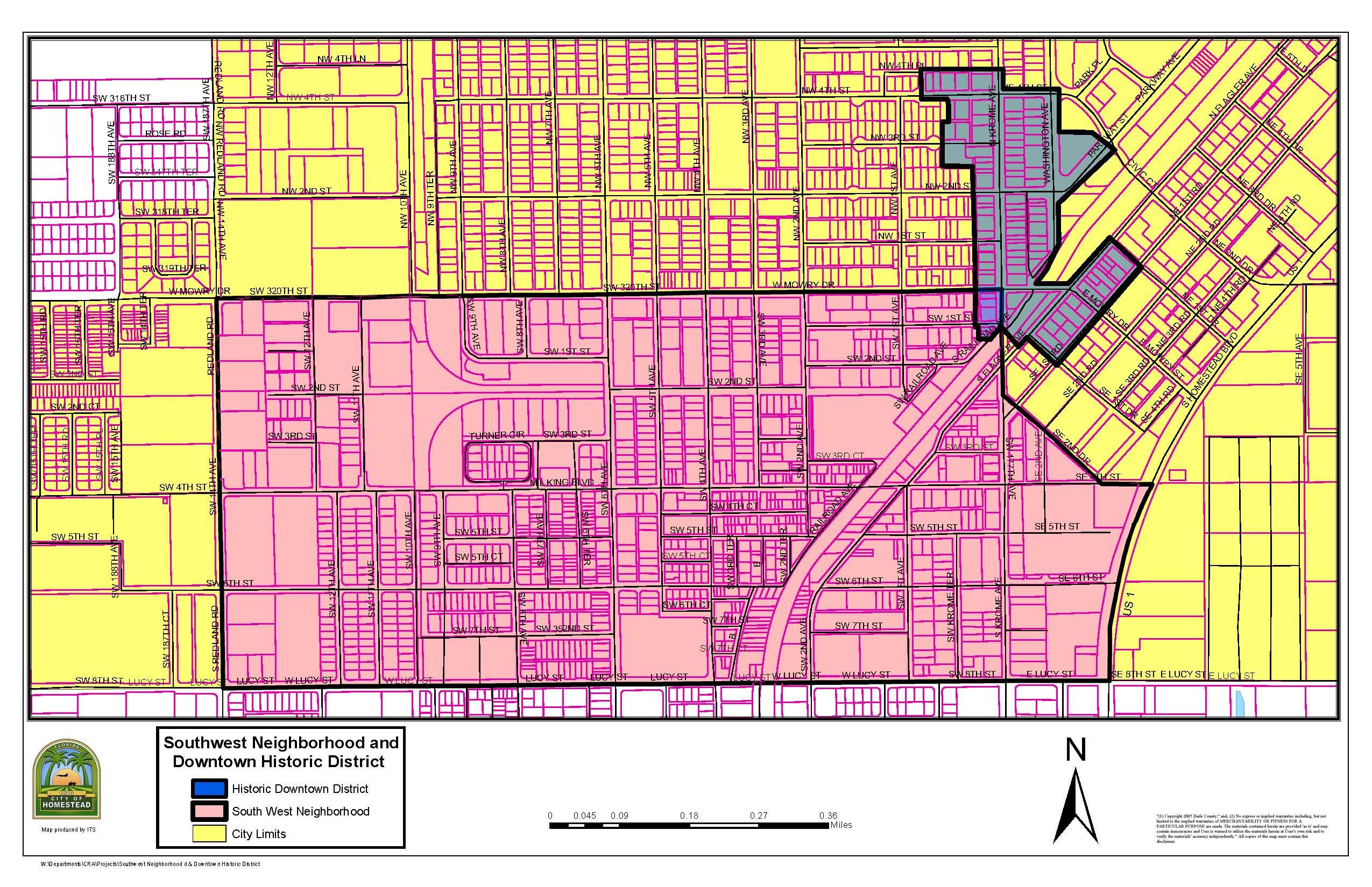 Map Of Homestead Florida.Cra Map Homestead Fl Official Website
