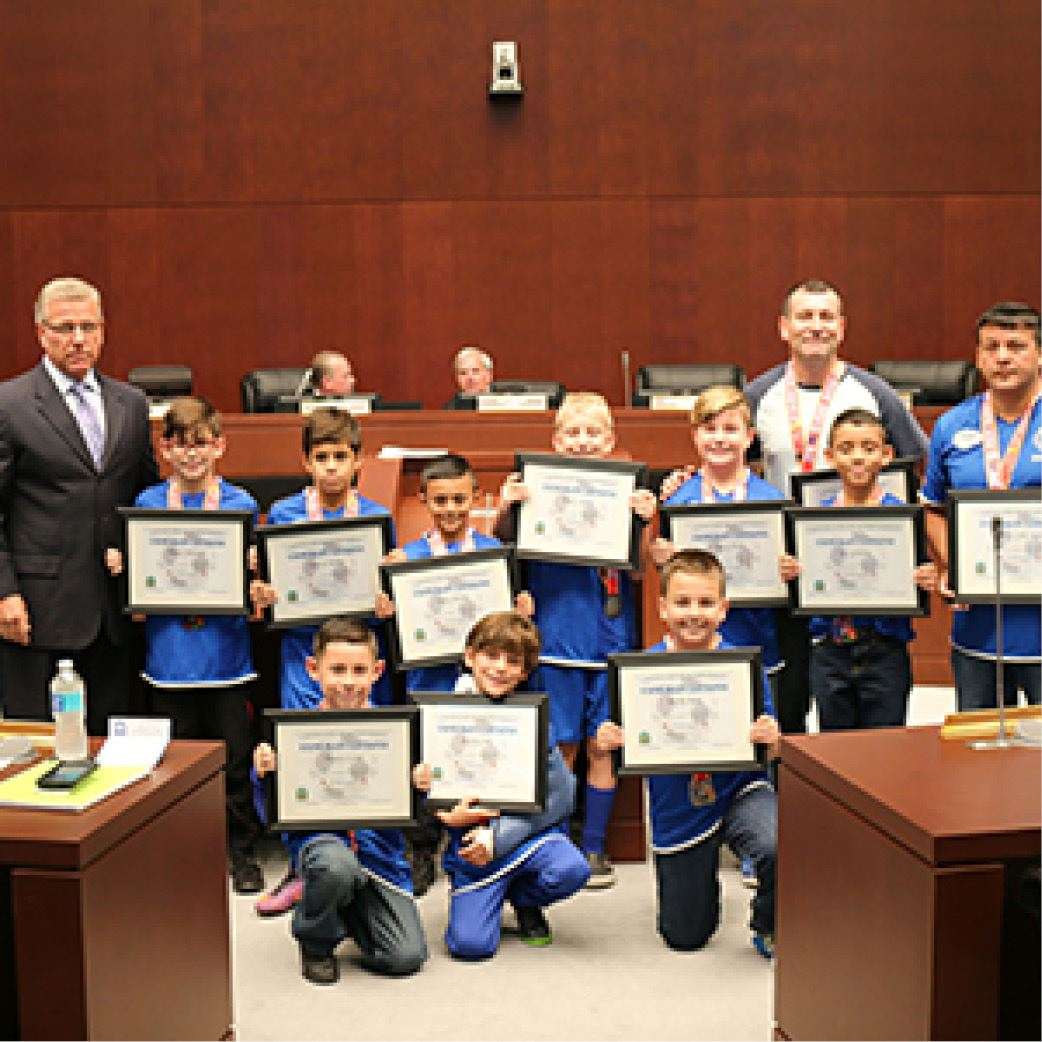 Councilman Burgess Honors AYSO 2017