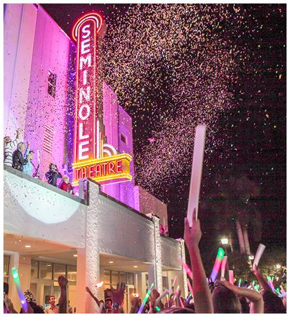 Residents Celebrate the Historic Seminole Theatre