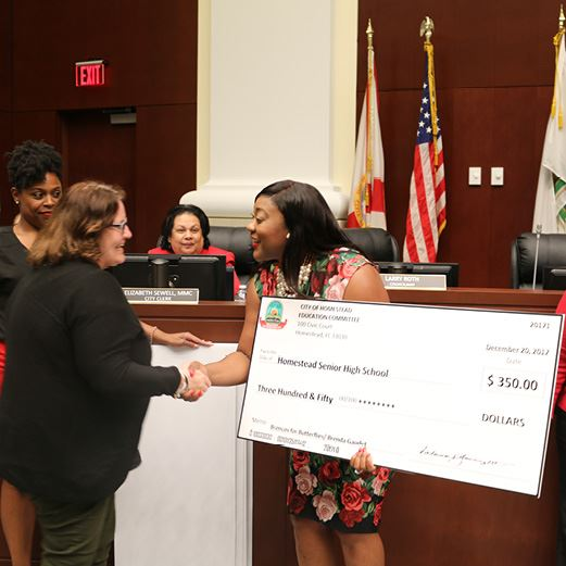 Councilwoman Fairclough Presents Education Mini Grants 2017