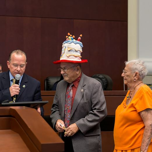 Councilman Larry Roth and the City of Homestead Celebrate Gunther Karger