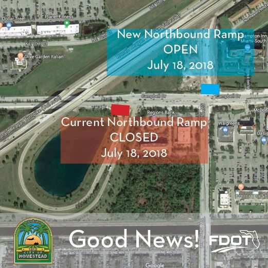 Turnpike Ramp Open July 18th