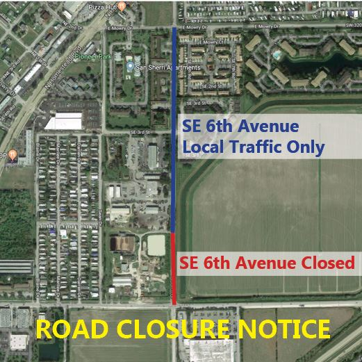 SE 6th Ave Closed Sept 2018