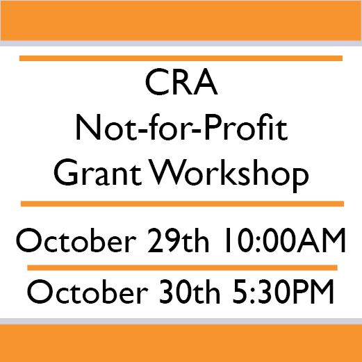 CRA FY 2019 Not for Profit Grant Workshop