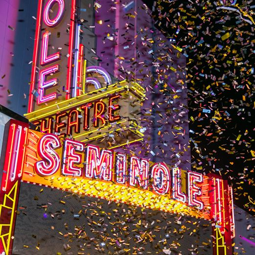 Seminole Lights New Marquee