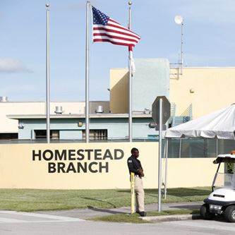 Homestead Immigrant Center Sign