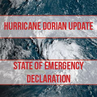 State of Emergency Hurricane Dorian Update