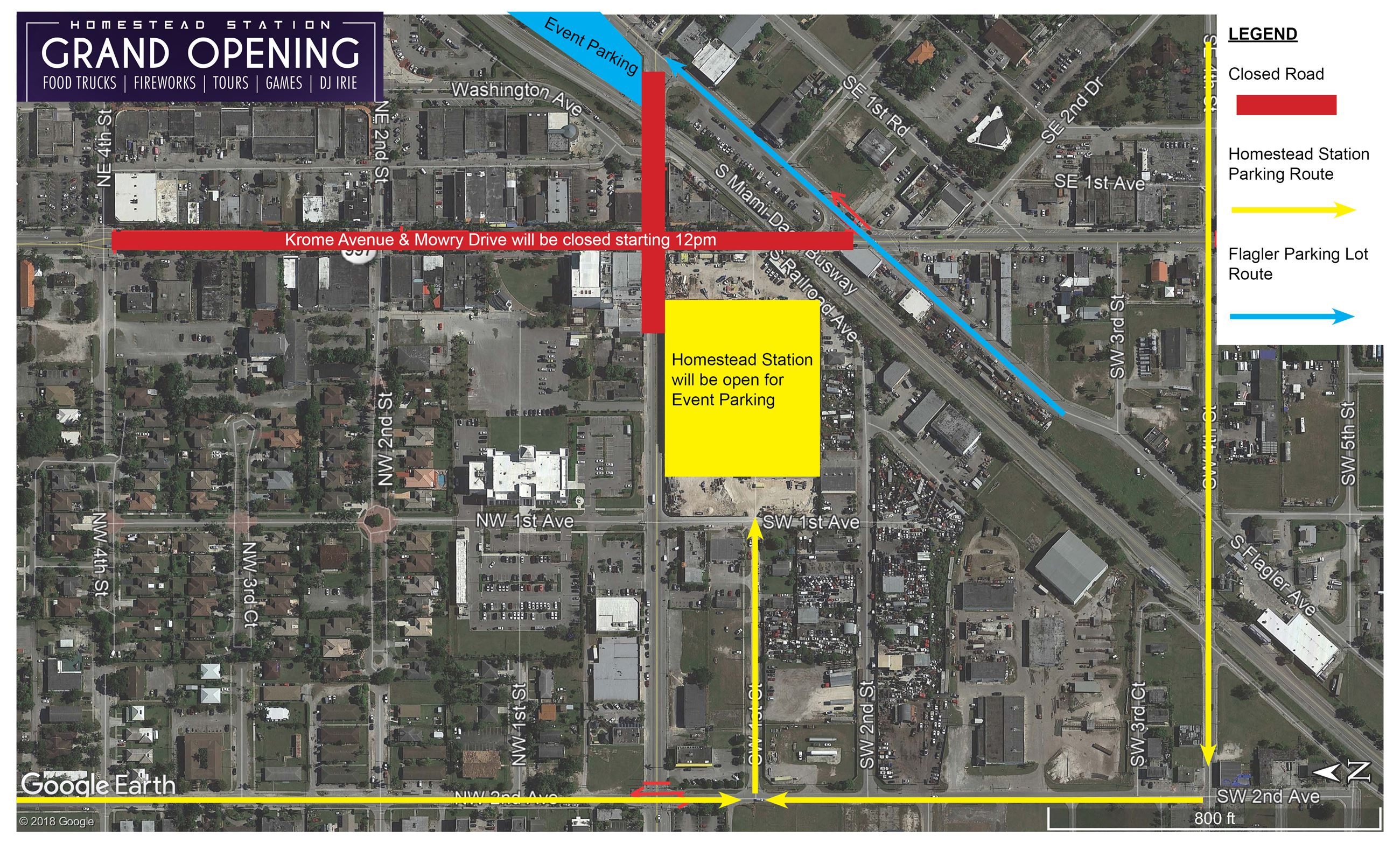 Homestead Station Grand Opening Traffic Plan