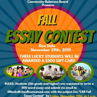 Fall 2019 CRB Essay Contest