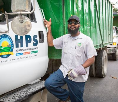 Man with HPS truck