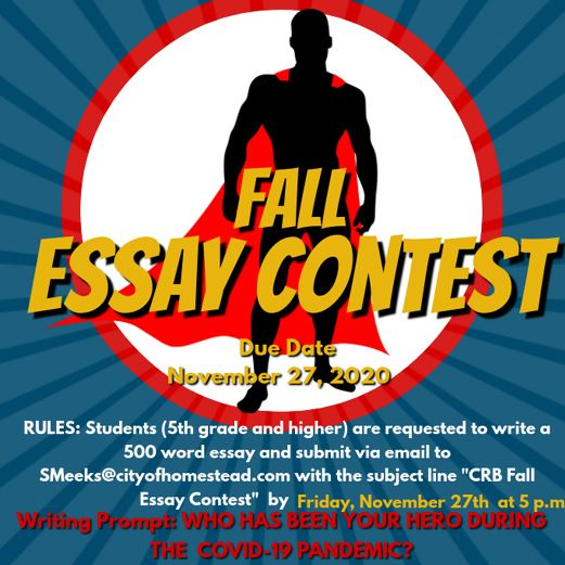 CRB Fall Essay Contest 2020 Announcement