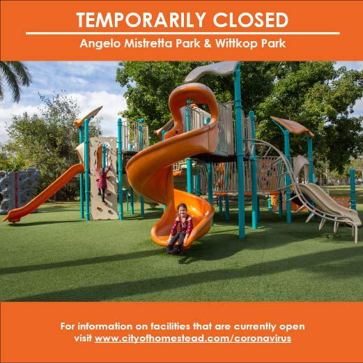 Mistretta and Wittkop Parks Temporarily Closed