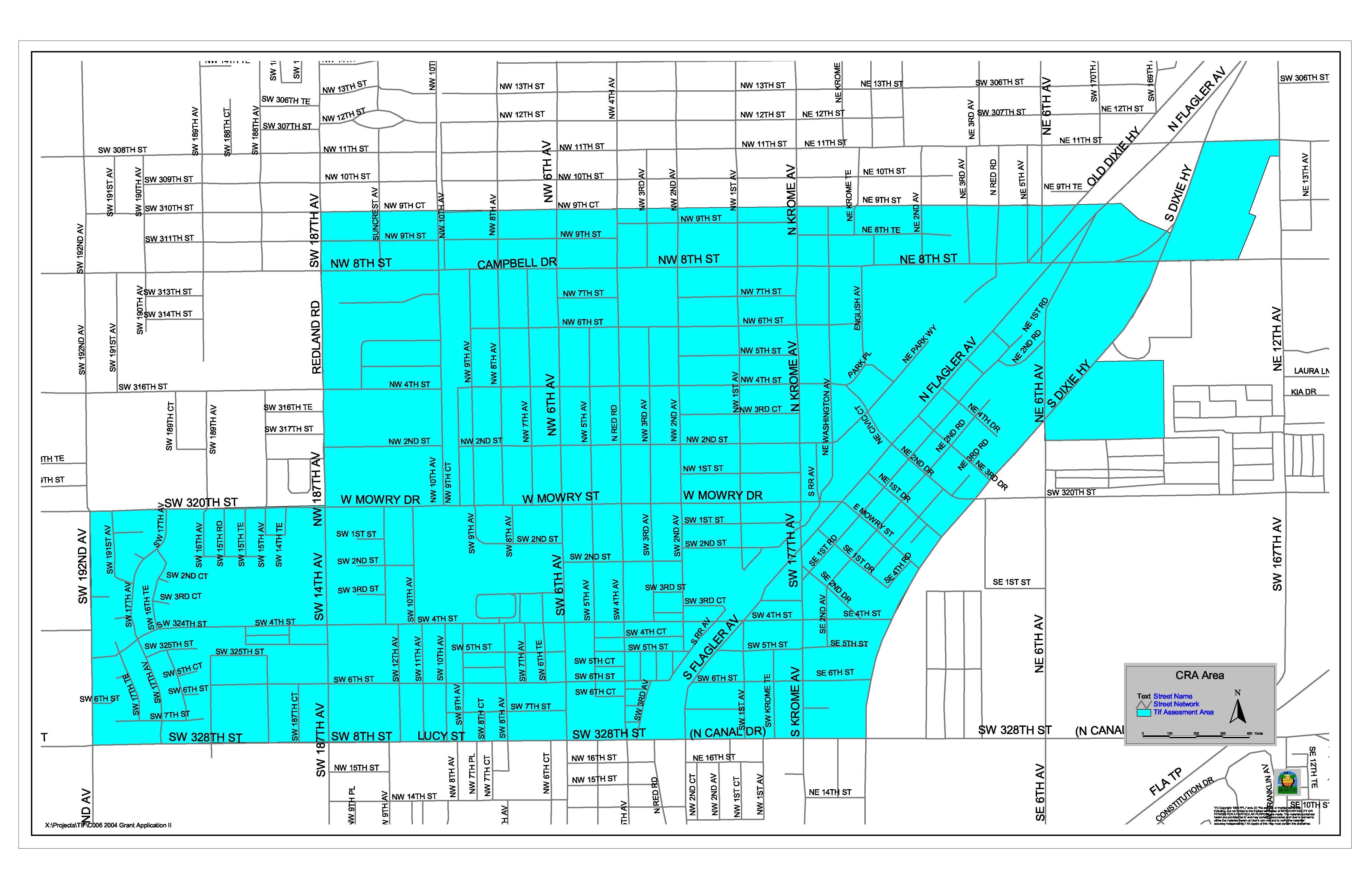 Homestead FL  Official Website  CRA Map