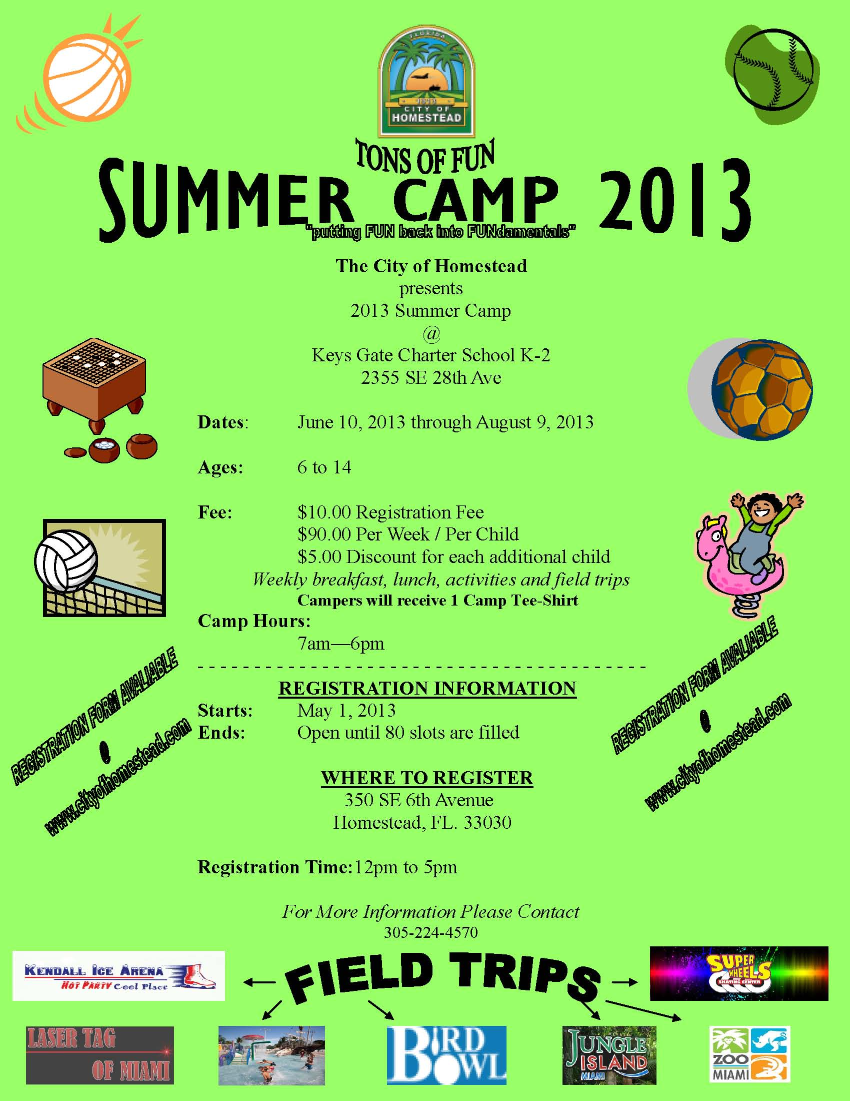City of Homestead Summer Camp 2013