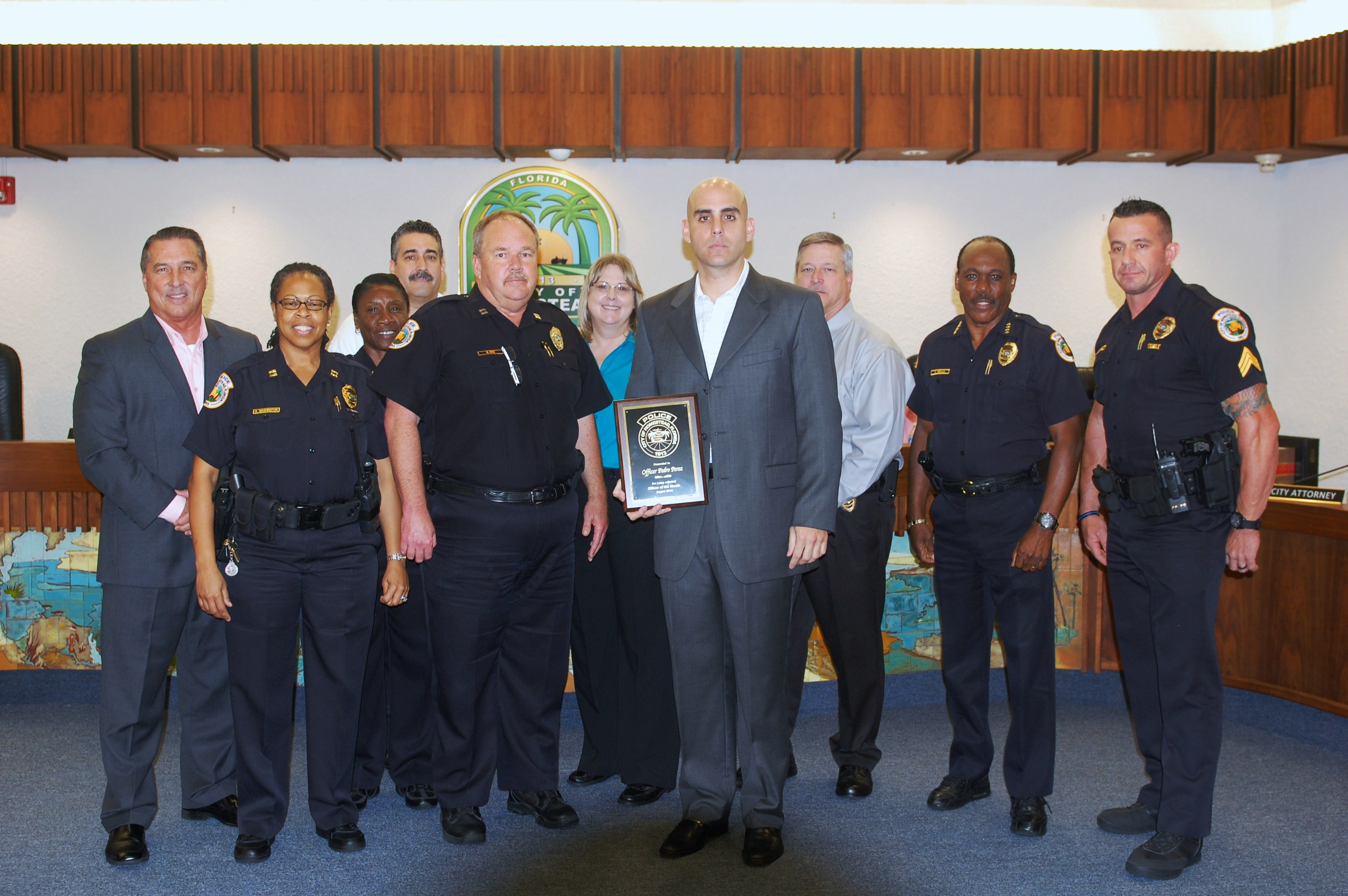 Officer of the Month Pete Perez
