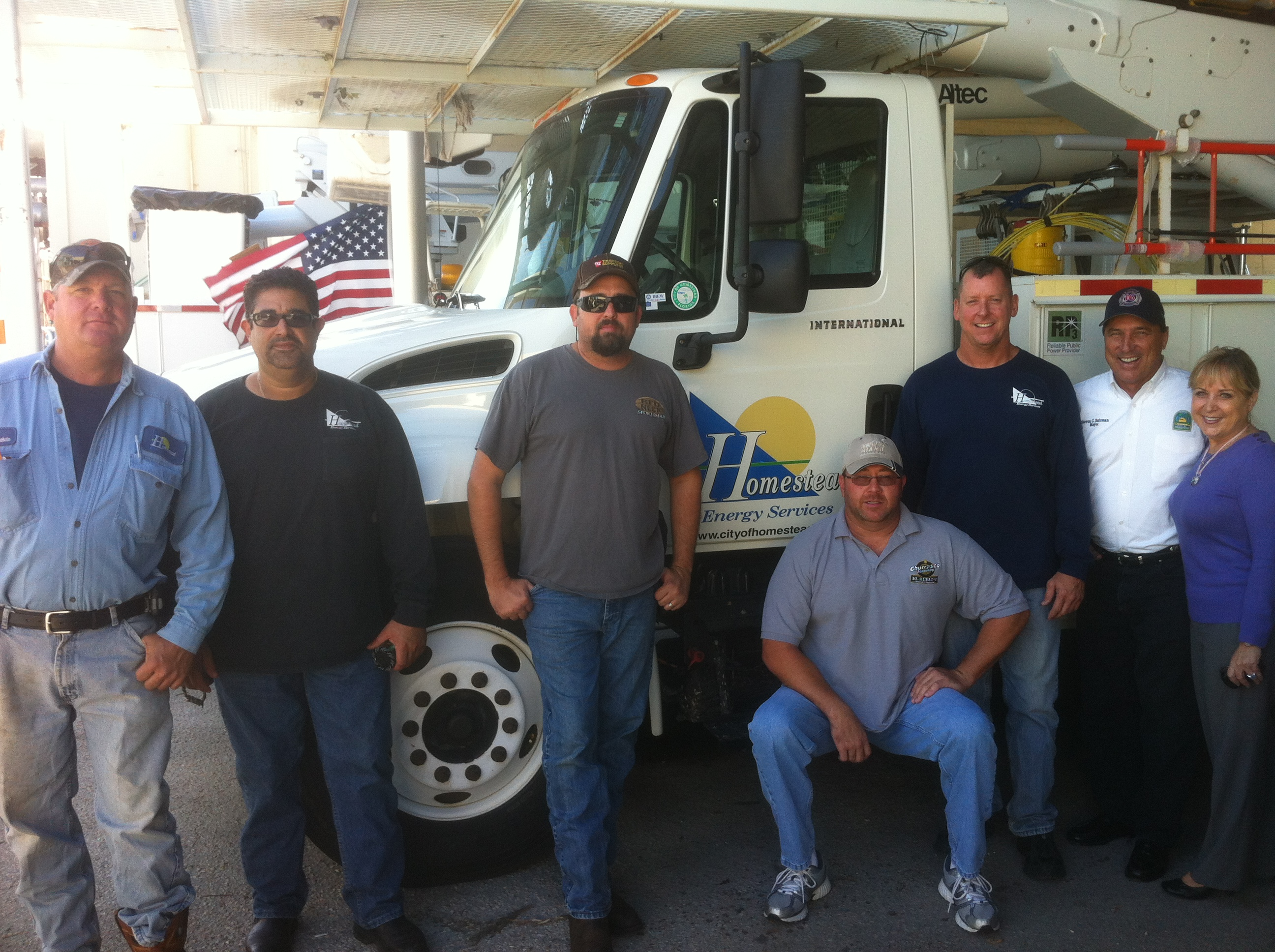Homestead Energy Services crew to NY