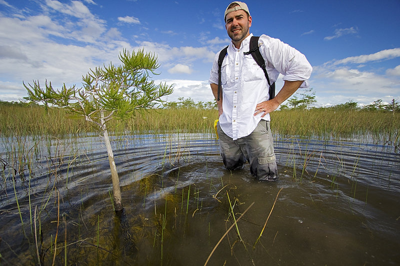 Councilman Stephen Shelley in the Everglades