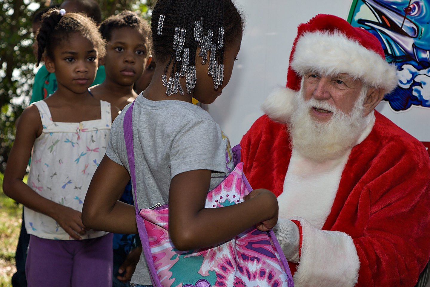 Santa at Youth Fishing Foundation Tournament
