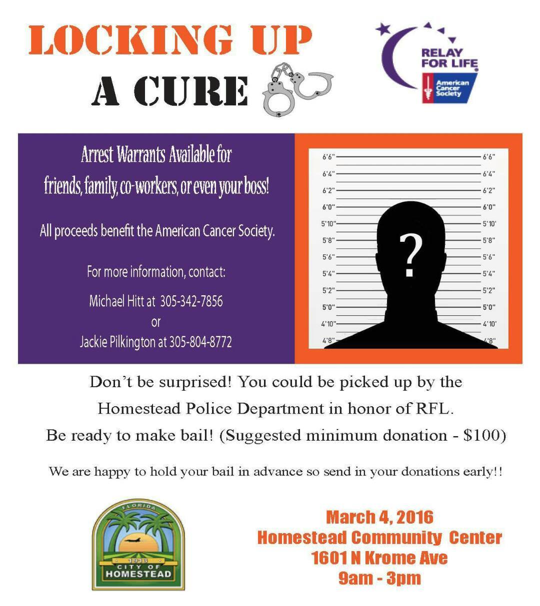 Relay for Life Lock Up A Cure