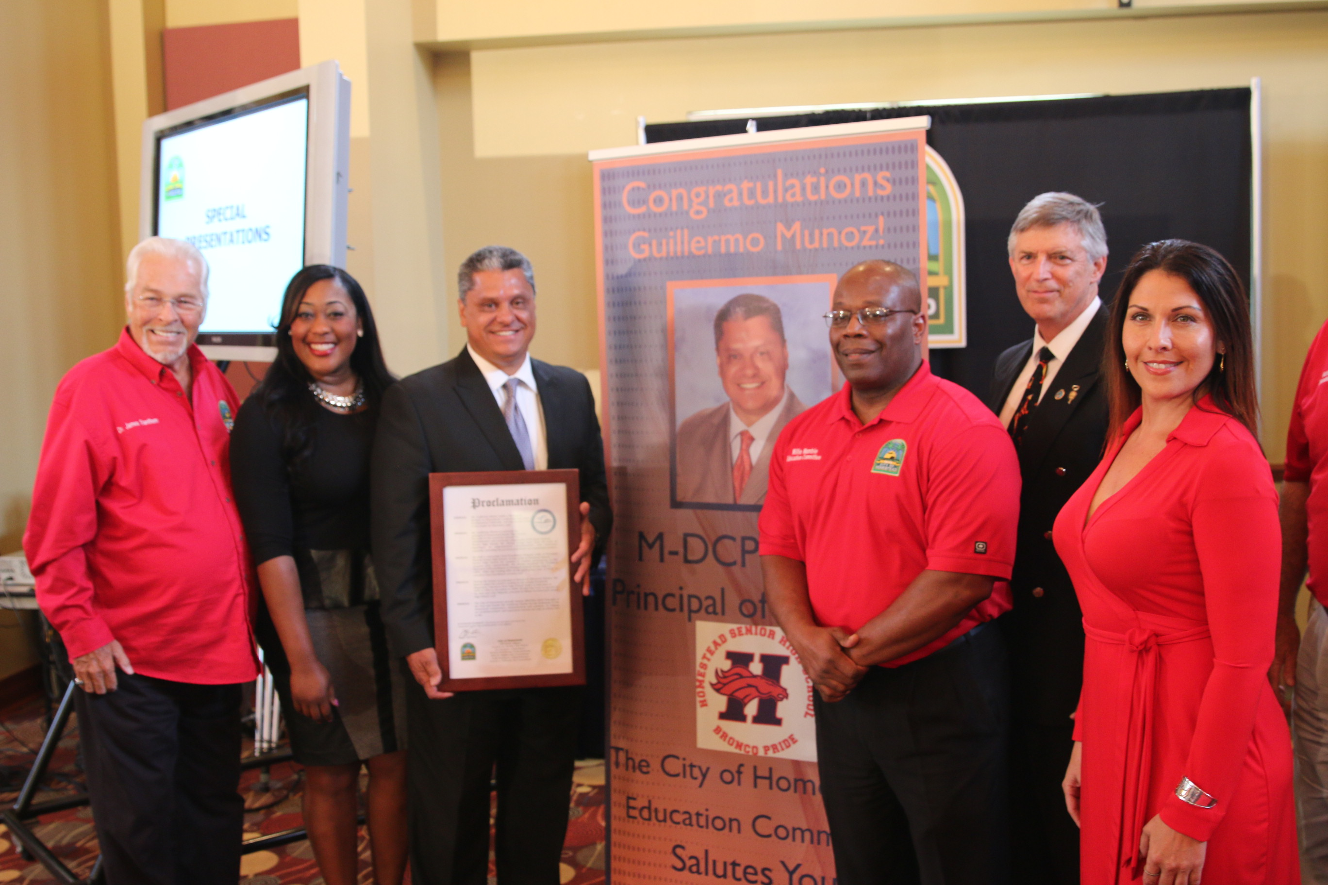 Councilwoman Fairclough Honors Homestead Principals