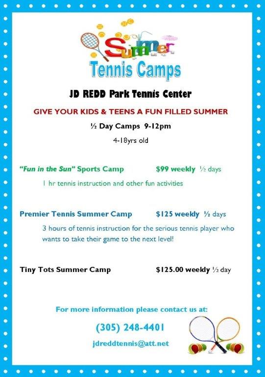 JD Redd Summer Tennis Camp