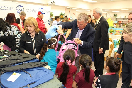 Councilman Burgess Leads MDCLC Backpack Giveaway