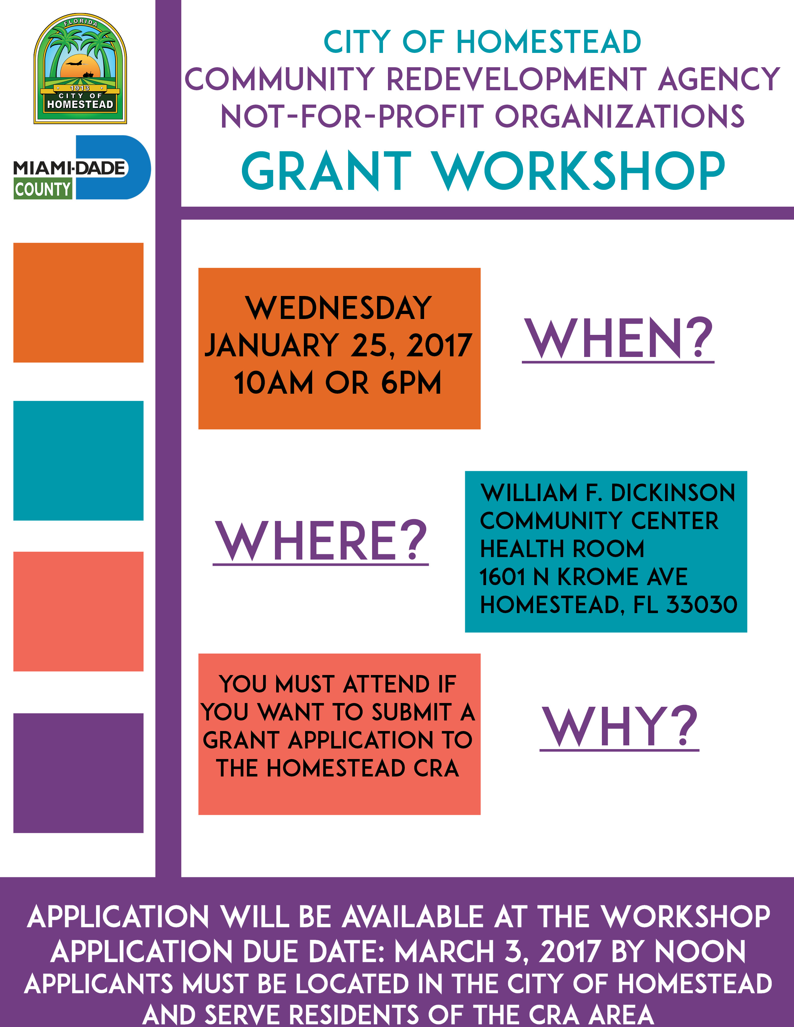 CRA Grant Workshop