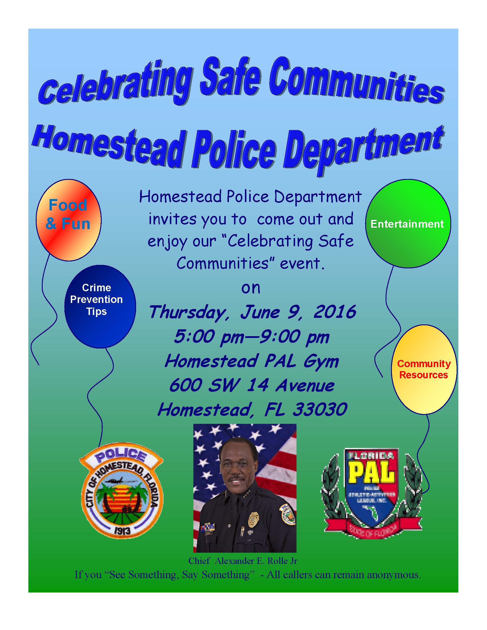 Celebrating Safe Communities June 9, 2016