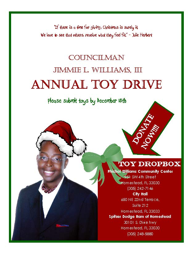 Councilman Williams Toy Drive
