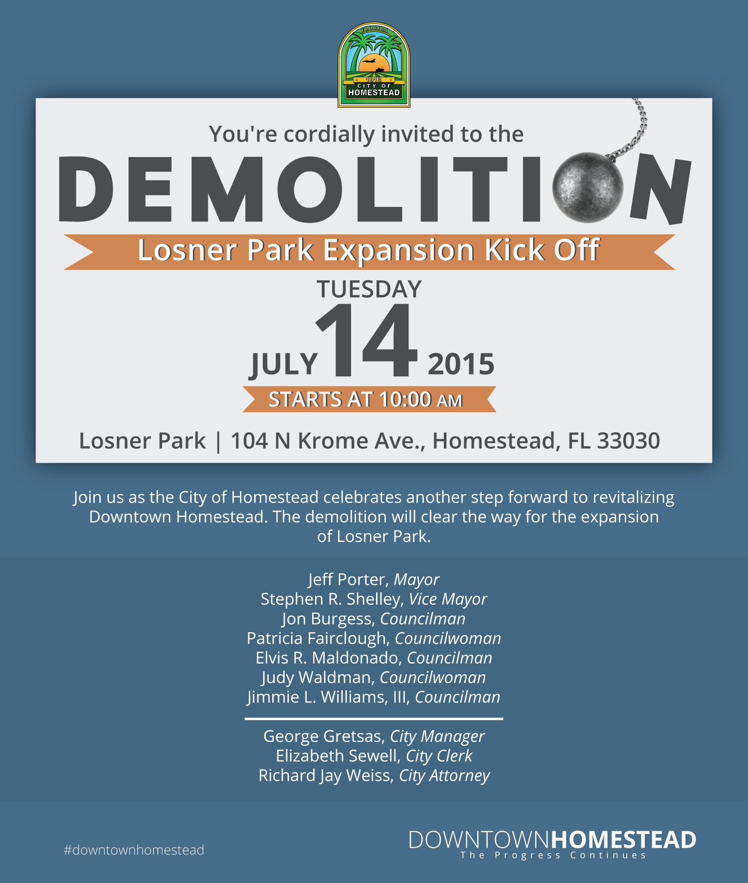 Demolition Kick Off Ceremony