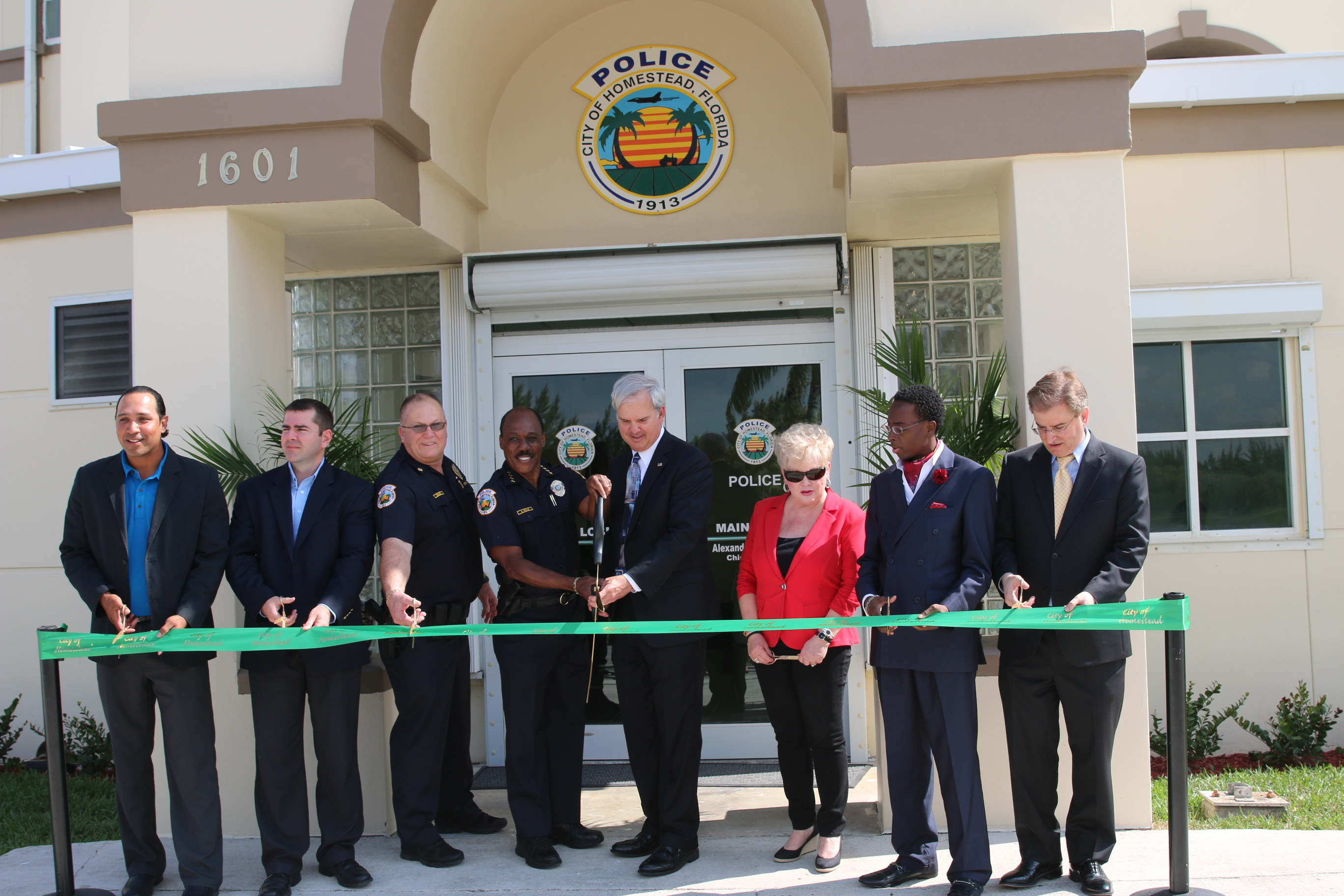 Temporary Police Station Ribbon Cutting