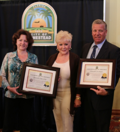 waldman honors burgess, league of cities 2014