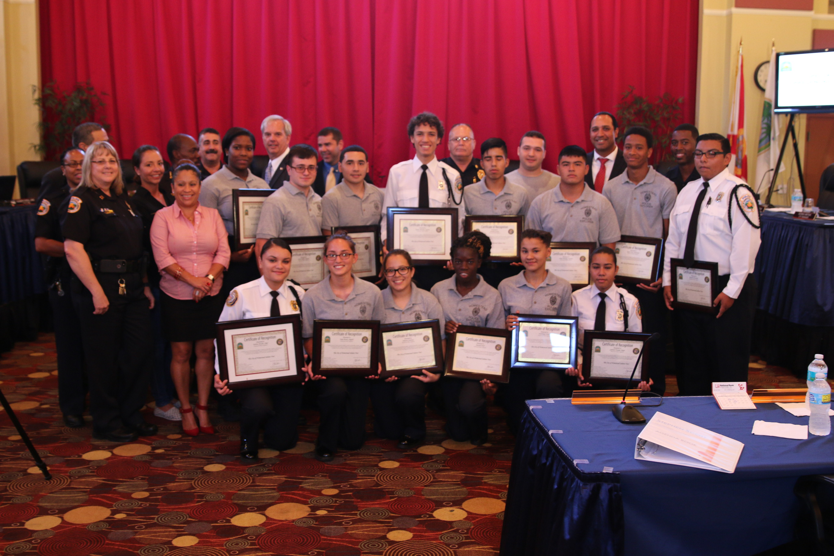 Police Explorers Honored