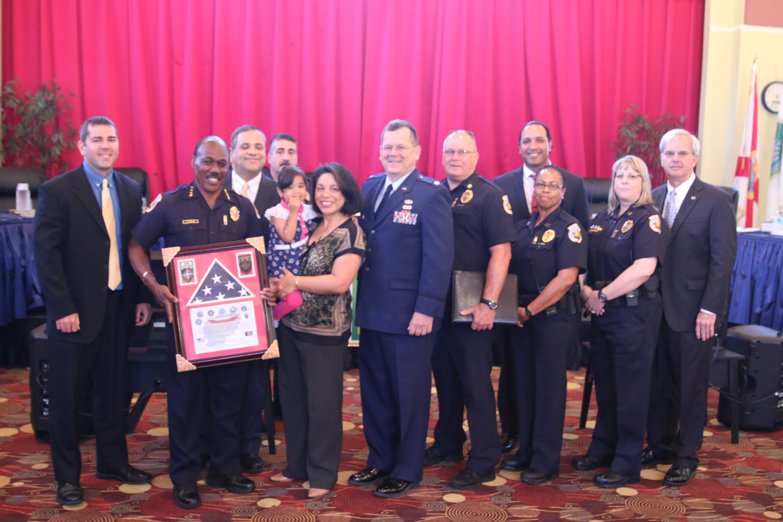 HPD Honored by Col. Davis