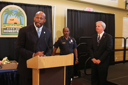 Mayor Porter Welcome Chauncey Brown as Police Chaplain