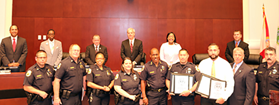 Councilman Burgess Honors Officers of the Month