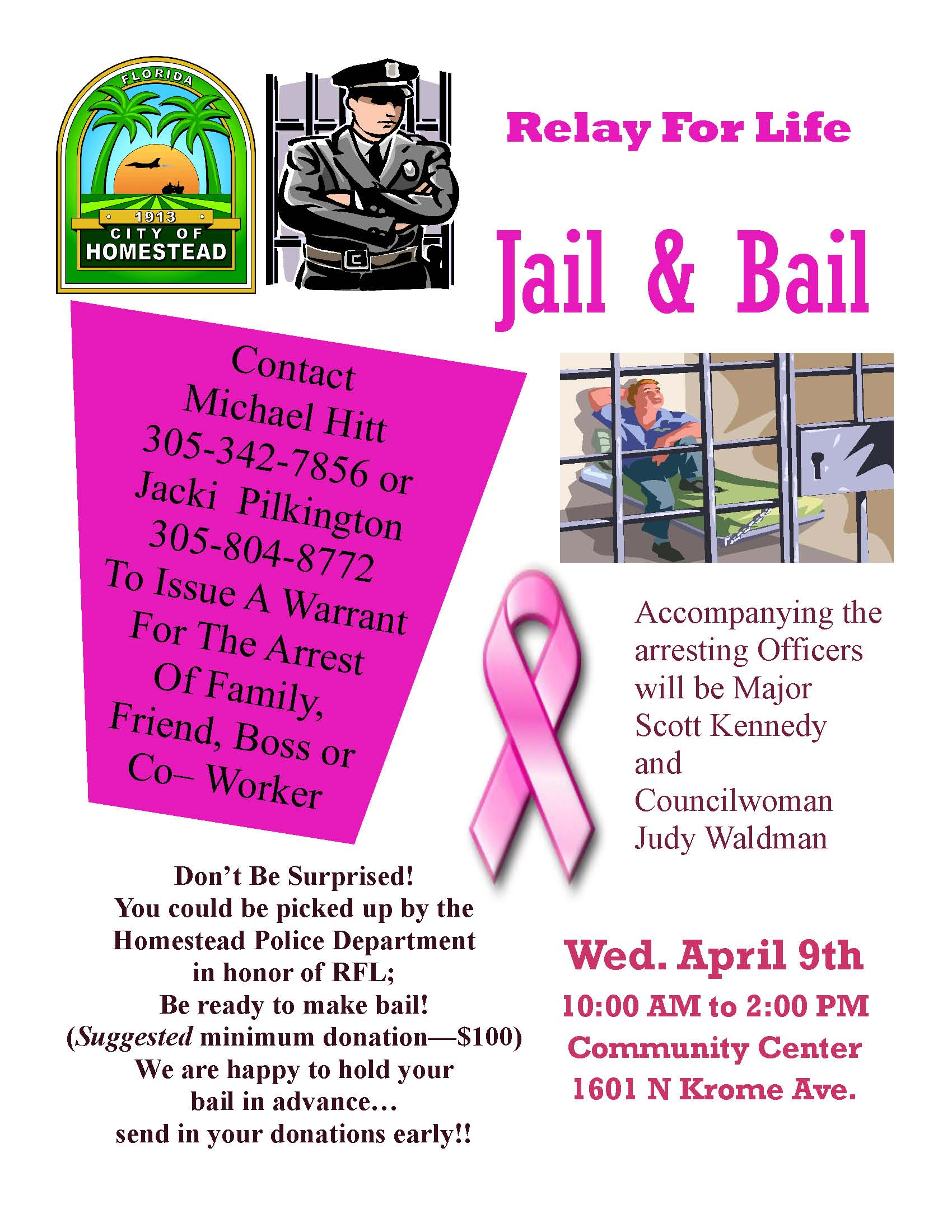 waldman jail and bail event 2014