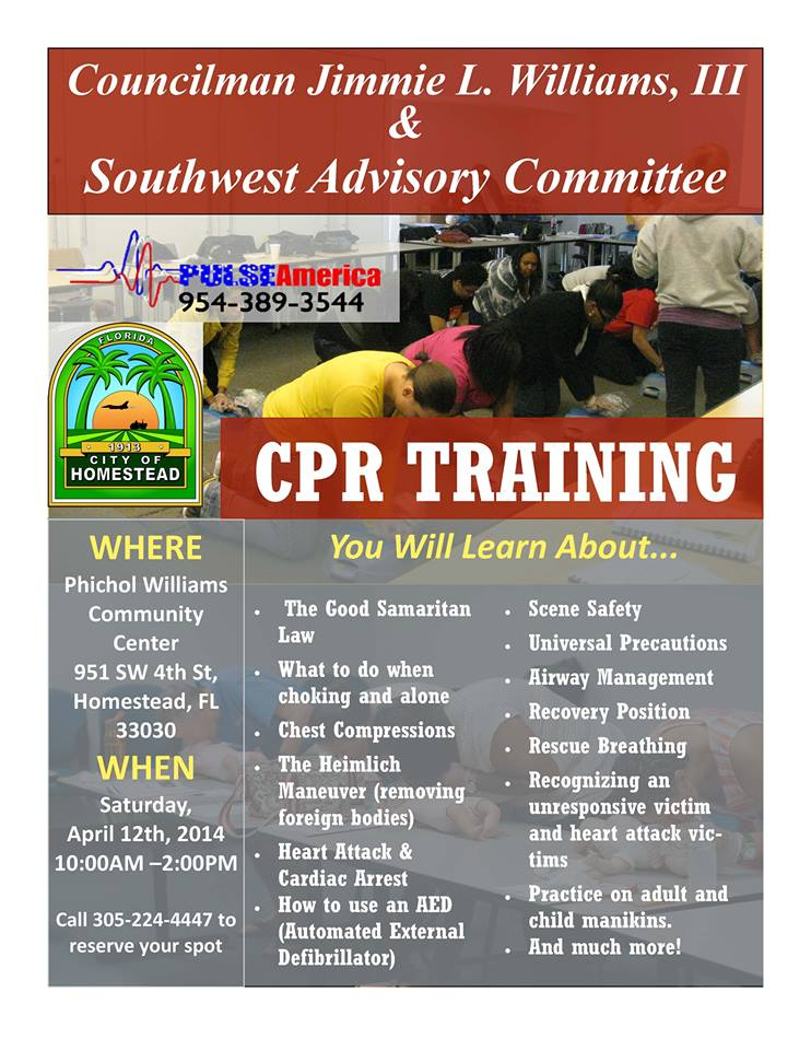 Jimmie Williams CPR training 2014