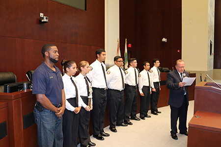 Councilman Roth Recognizes Police Explorers