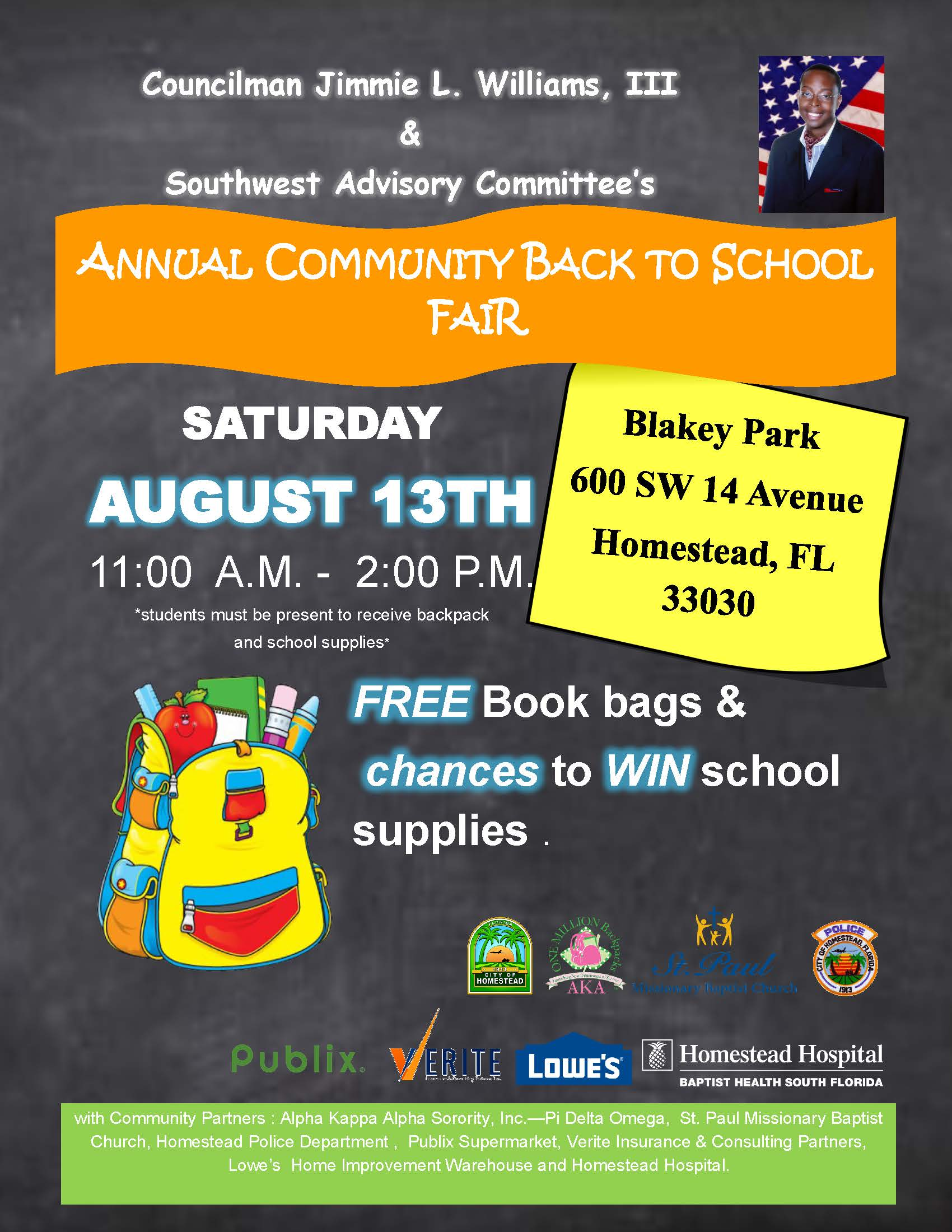 2016 Backpack Giveaway